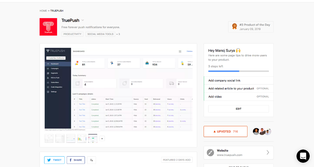 /our-accidental-checklist-for-landing-on-3-on-producthunt-com-a0df54a7cd6f feature image