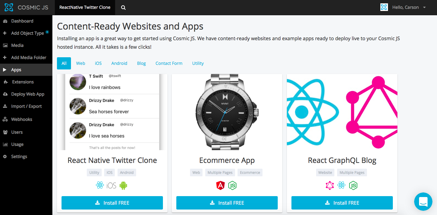 Install a React Native Twitter Clone in 3 Steps - By Carson