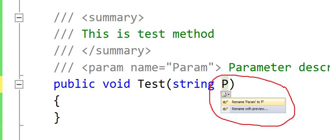 C# code documentation - By