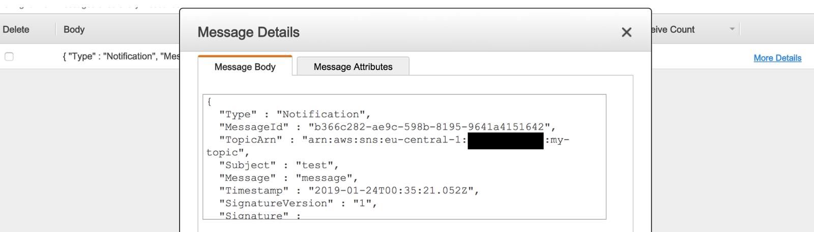Subscribe SQS to a SNS topic in another AWS account with