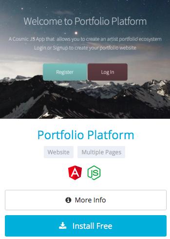 Deploy a Portfolio Platform App in 3 Steps using Cosmic JS - By Carson