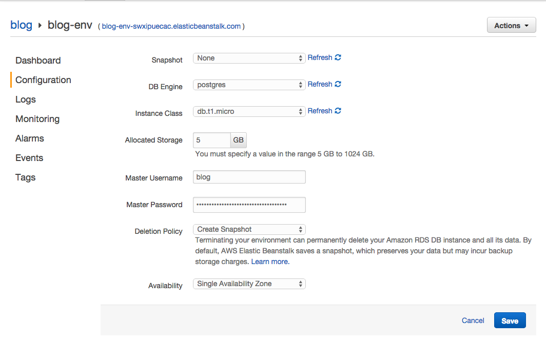 How to set up a Rails 4 2 app on AWS with Elastic Beanstalk