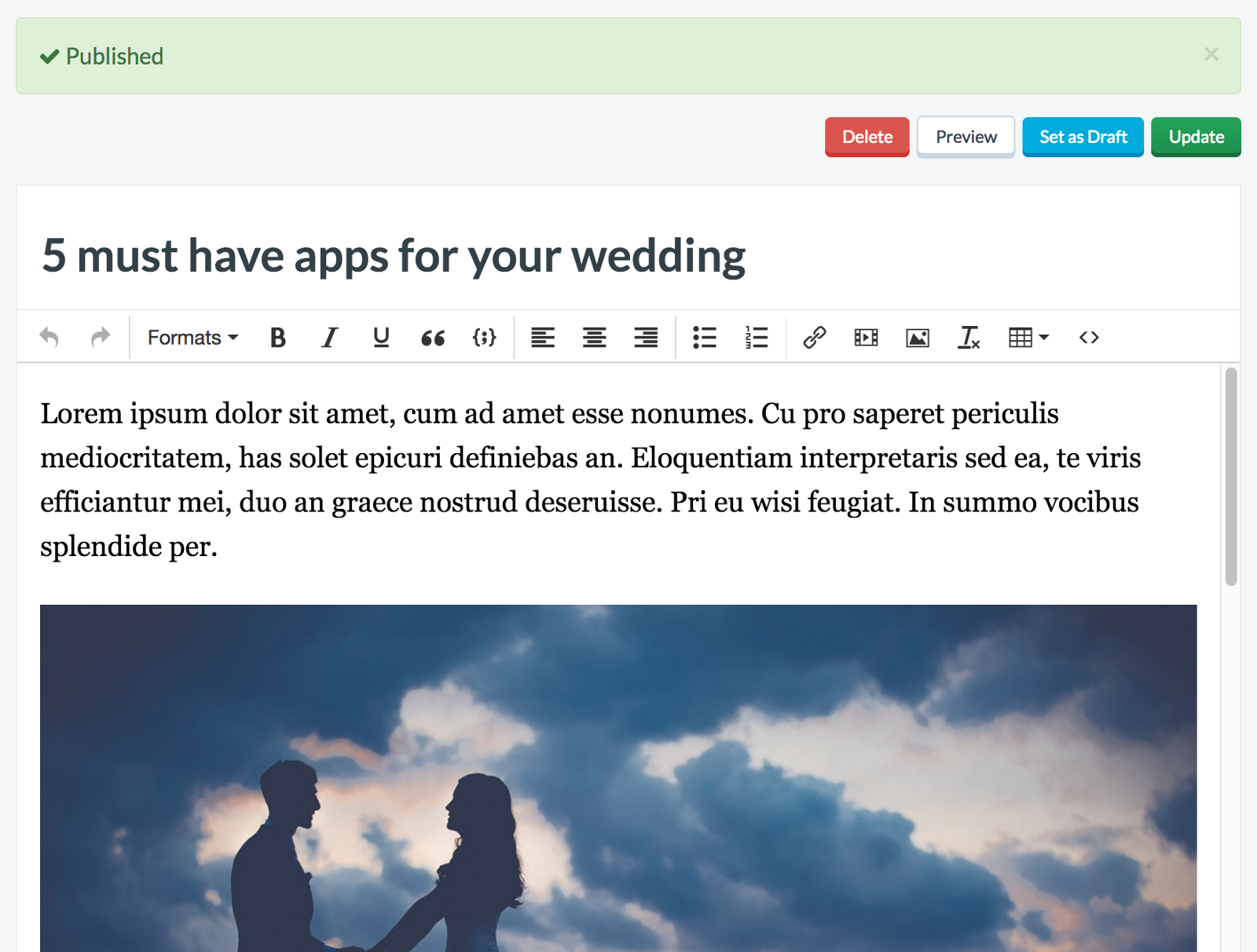 How Wedding Together added a blog to their Django app in 5 minutes - By