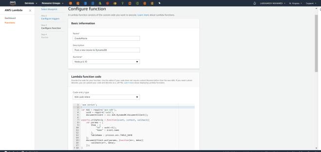 Create a Serverless REST API with Node JS, AWS Lambda