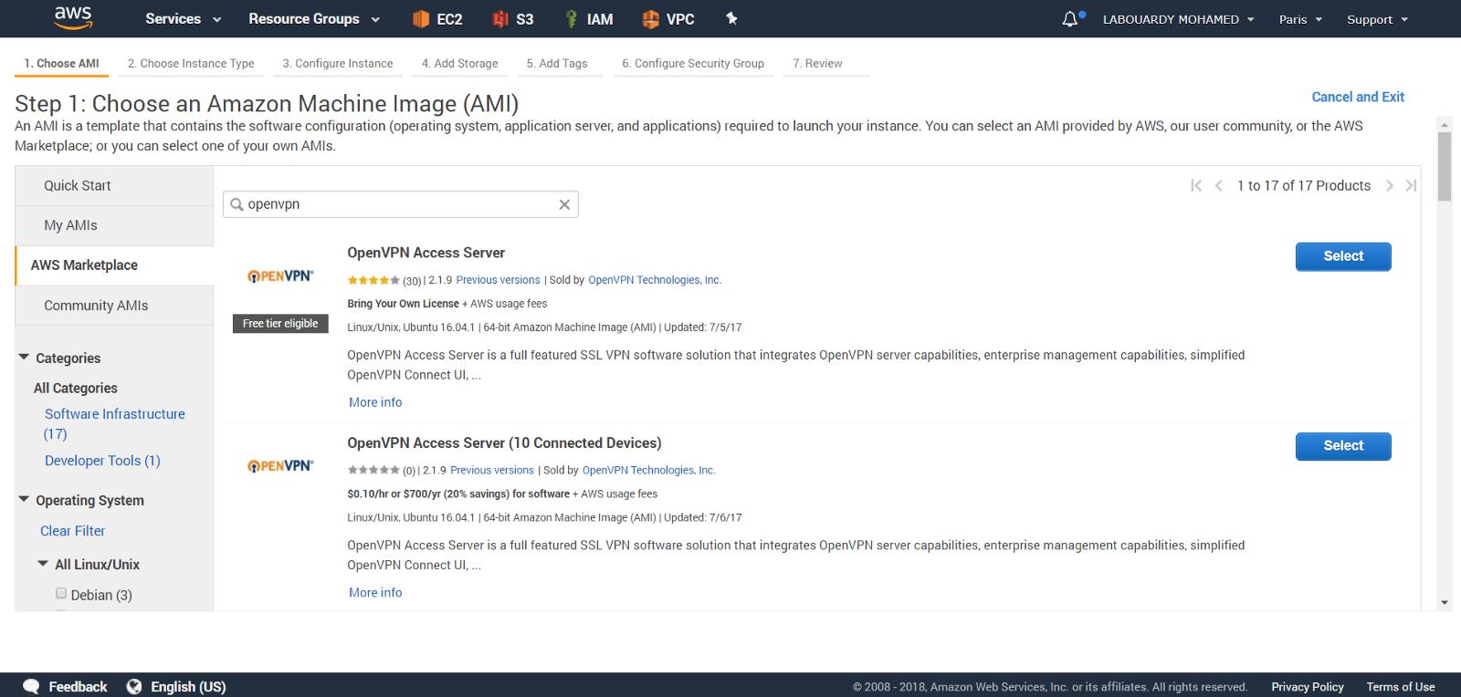 AWS OpenVPN Access Server - By