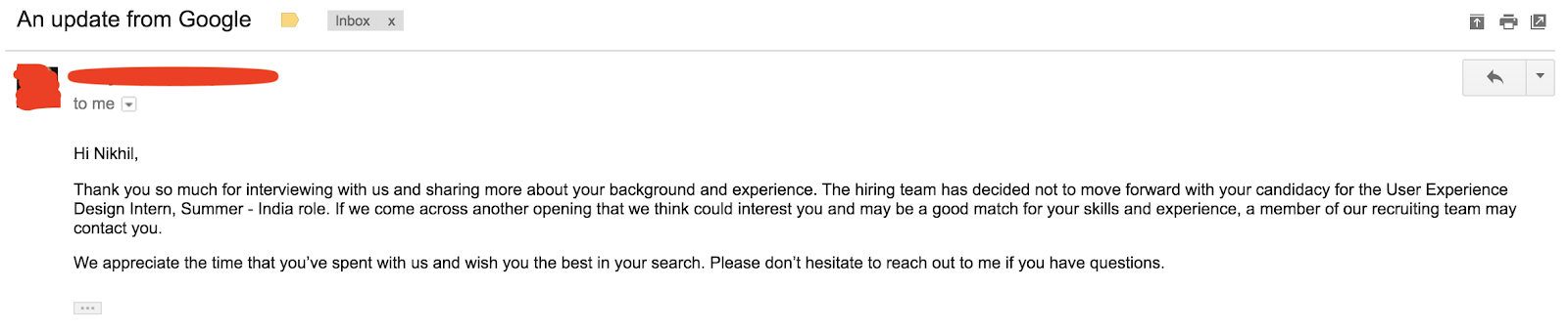 What I learned from my Google UX Internship Interview