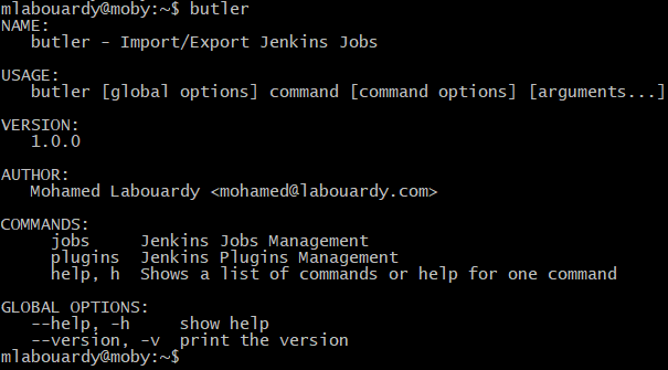 Butler CLI: Export/Import Jenkins Plugins & Jobs - By