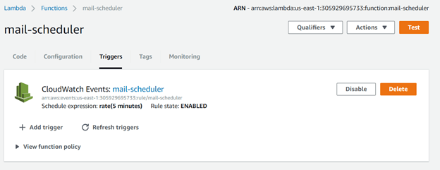 Setup AWS Lambda with Scheduled Events - By
