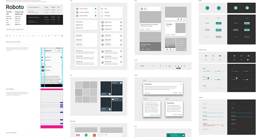 12 Best Free Material Design Ui Kits For Sketch Psd In 2018 Hacker Noon
