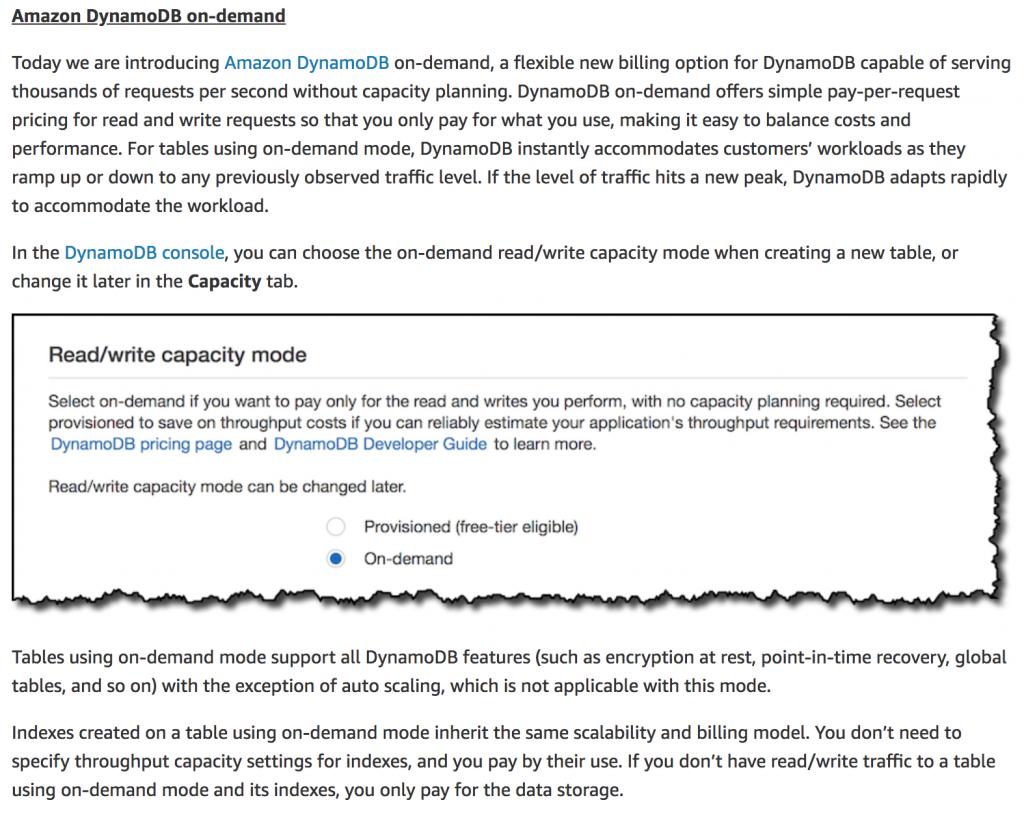 Understanding the scaling behaviour of DynamoDB OnDemand