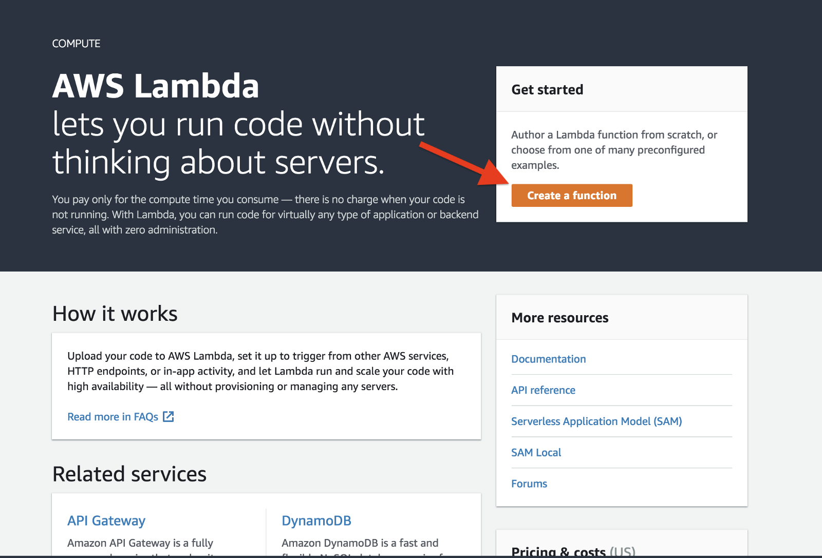Processing forms on AMP pages with Amazon API Gateway and AWS Lambda