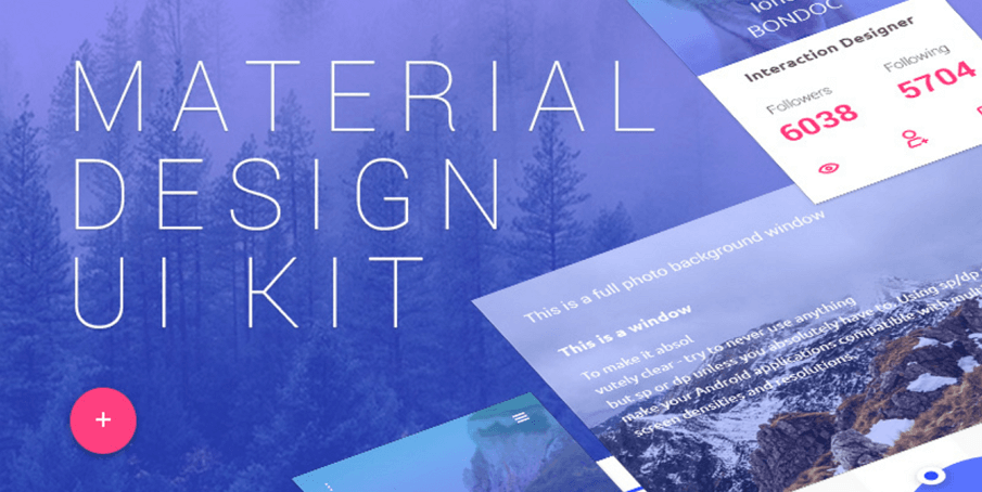 12 Best Free Material Design UI Kits for Sketch & PSD in 2018 - By