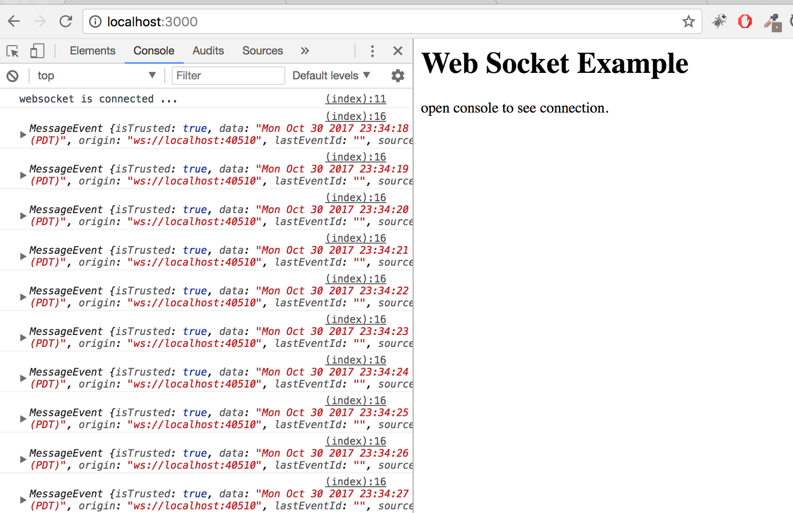 Node js] set up Websocket + Express + HTML service in 3 step - By