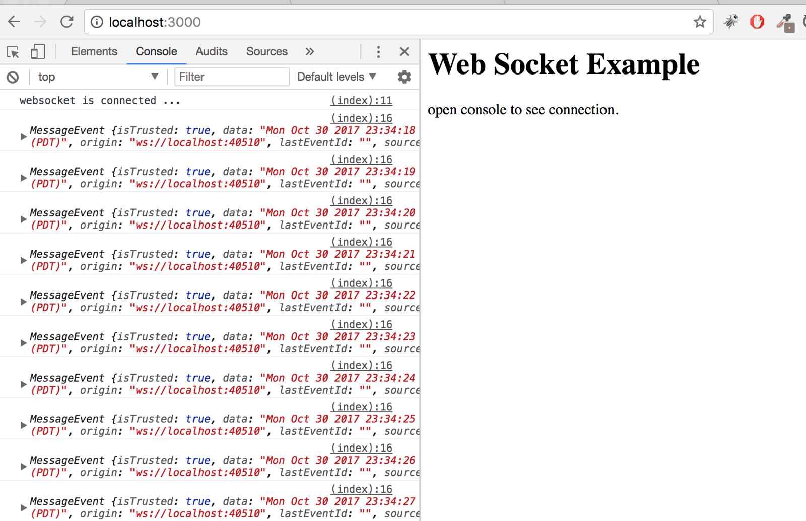 Node js] set up Websocket + Express + HTML service in 3 step - By