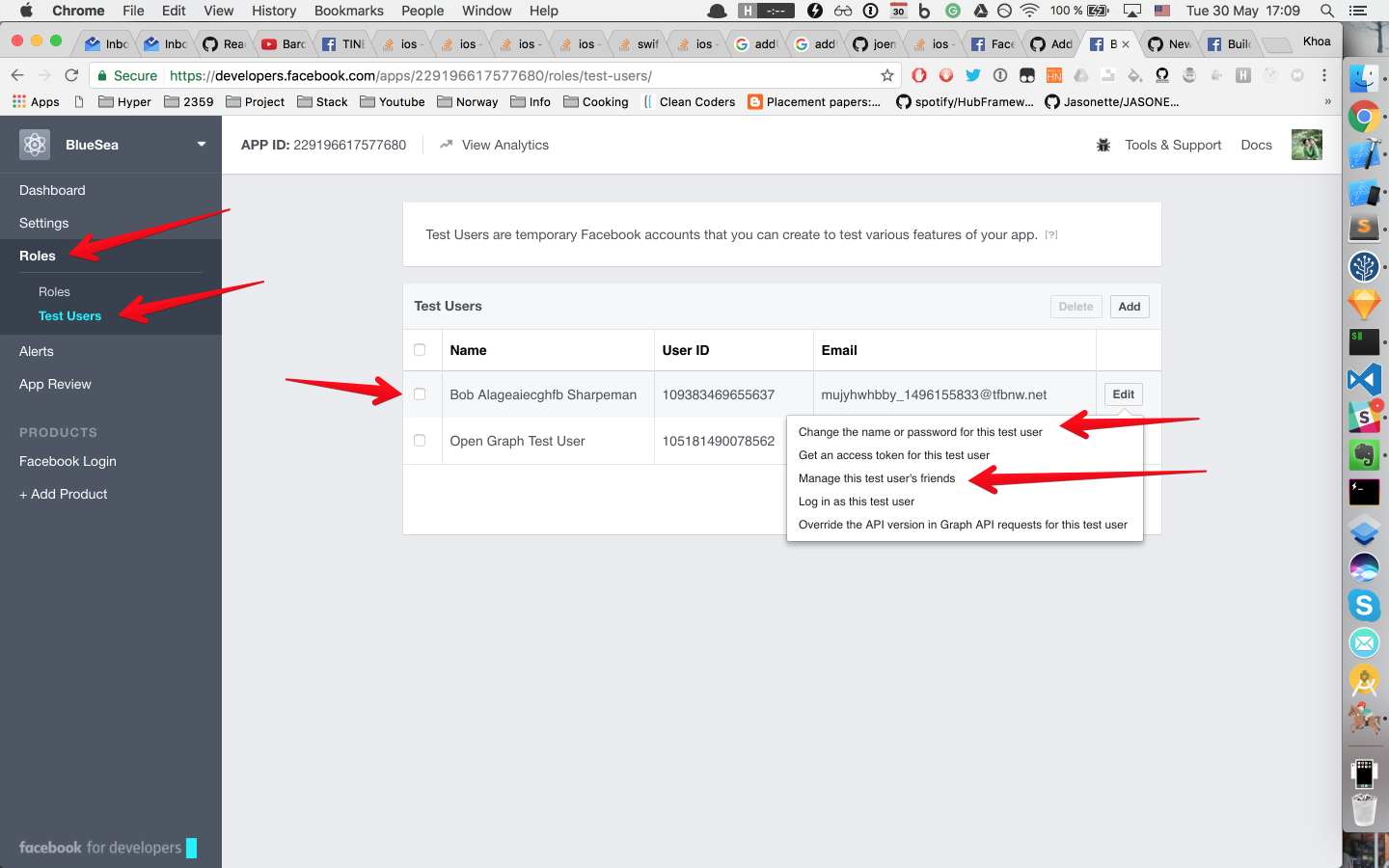 Running UITests with Facebook login in iOS - By