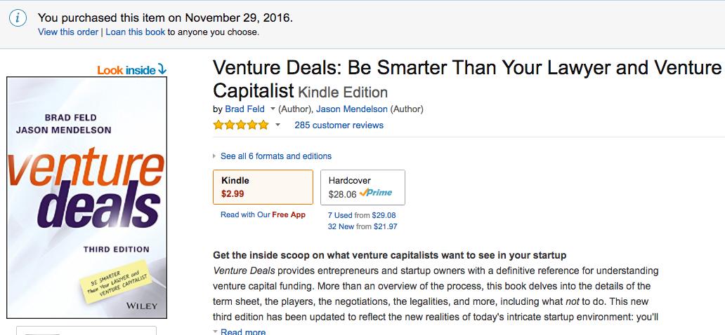 /venture-deals-3rd-edition-available-via-kindle-matchbook-6c026625730b feature image