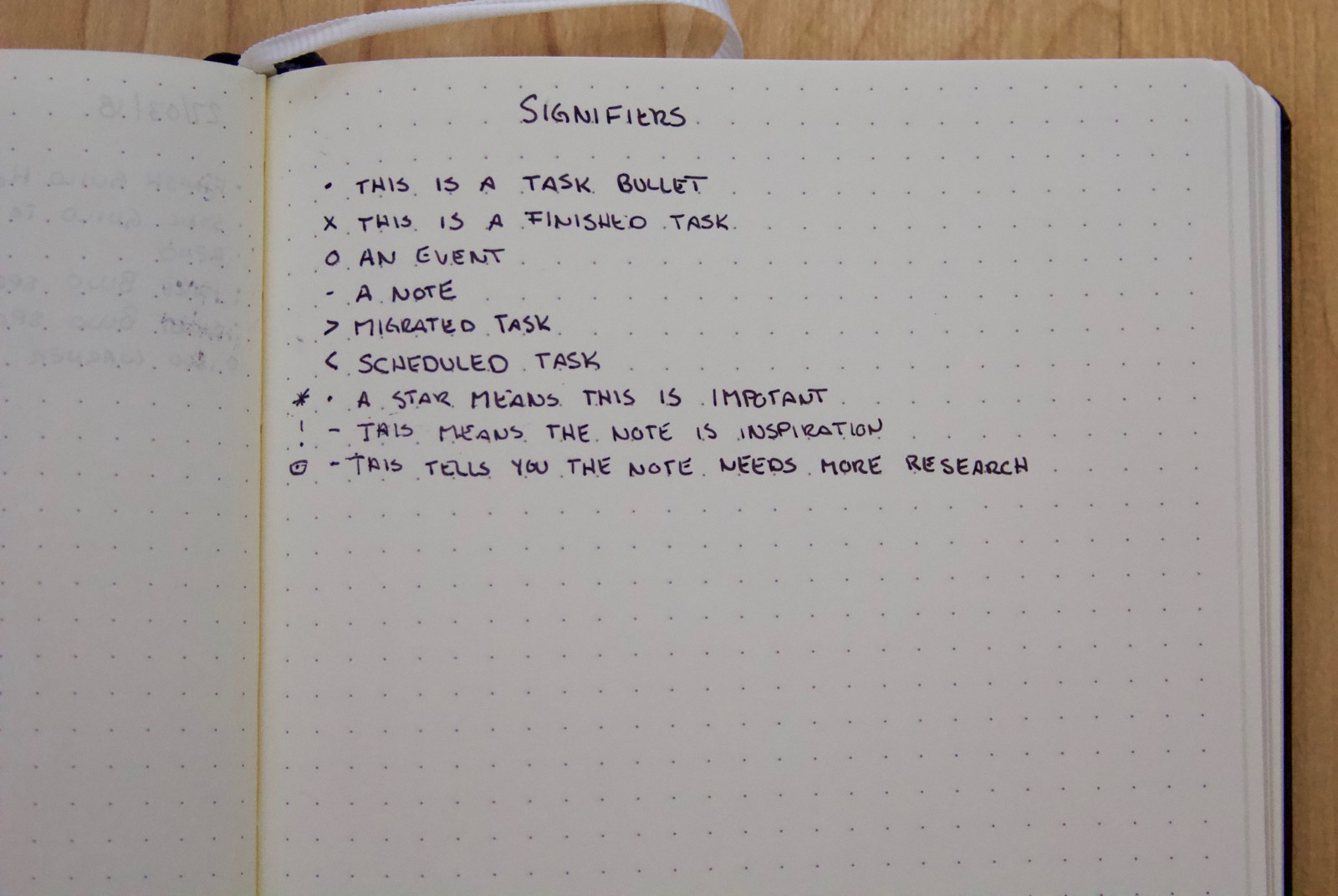 Bullet Journal Signifiers