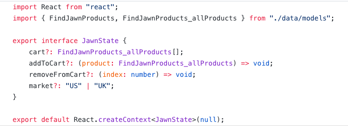 State management with React Context, TypeScript, and GraphQL