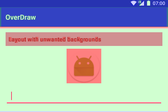 Rendering Performance in Android - Overdraw - By