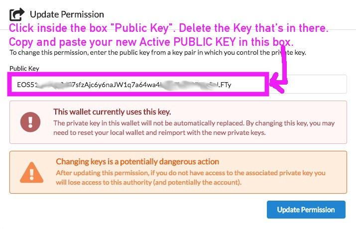 EOS FOR IDIOTS: How To Change Your EOS Active Key Using