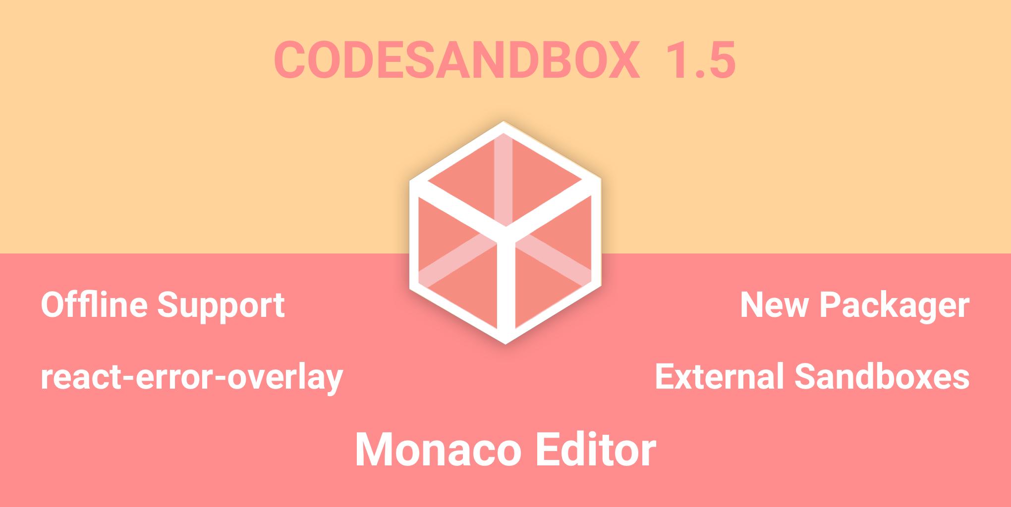 CodeSandbox 1 5 Changelog - By