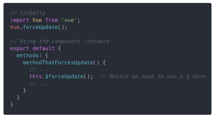 The correct way to force Vue to re-render a component - By
