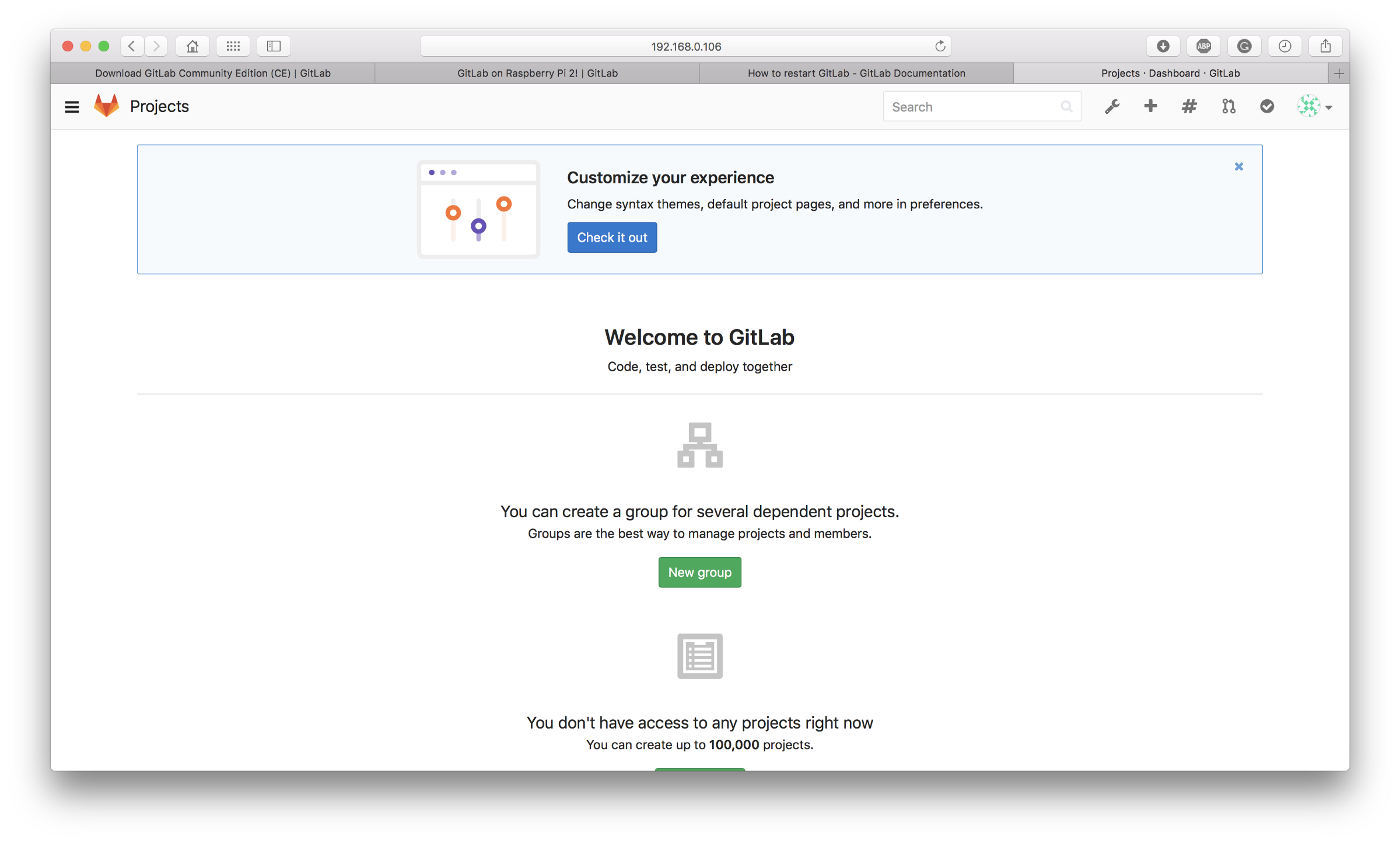 Create your own Git server using Raspberry Pi and GitLab - By