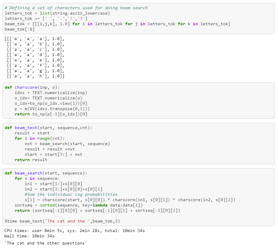 Text Generation for Char LSTM models - By Nikhil B
