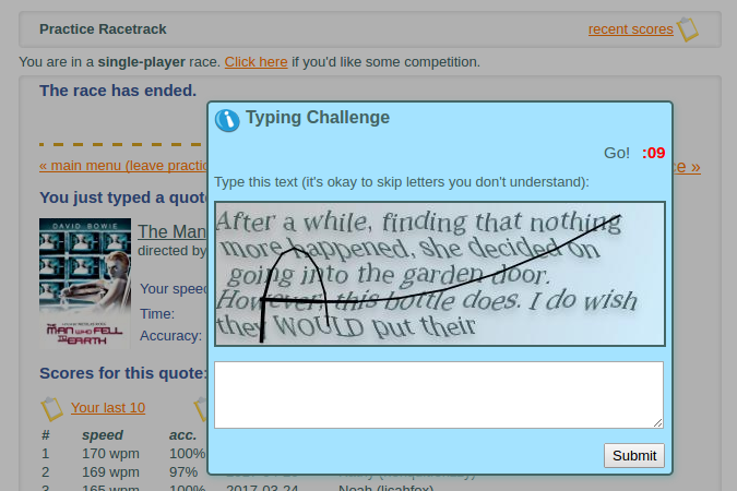 How To Mess With TypeRacer - By