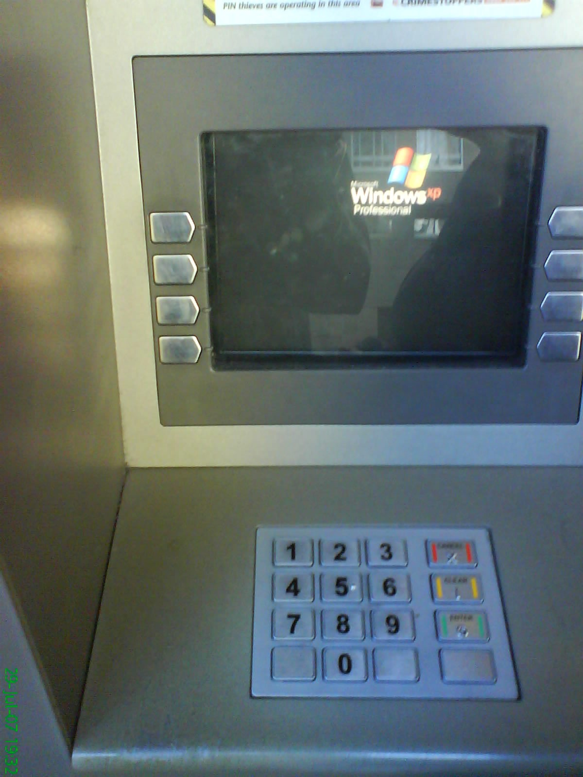 Do ATMs running Windows XP pose a security risk? You can bank on it