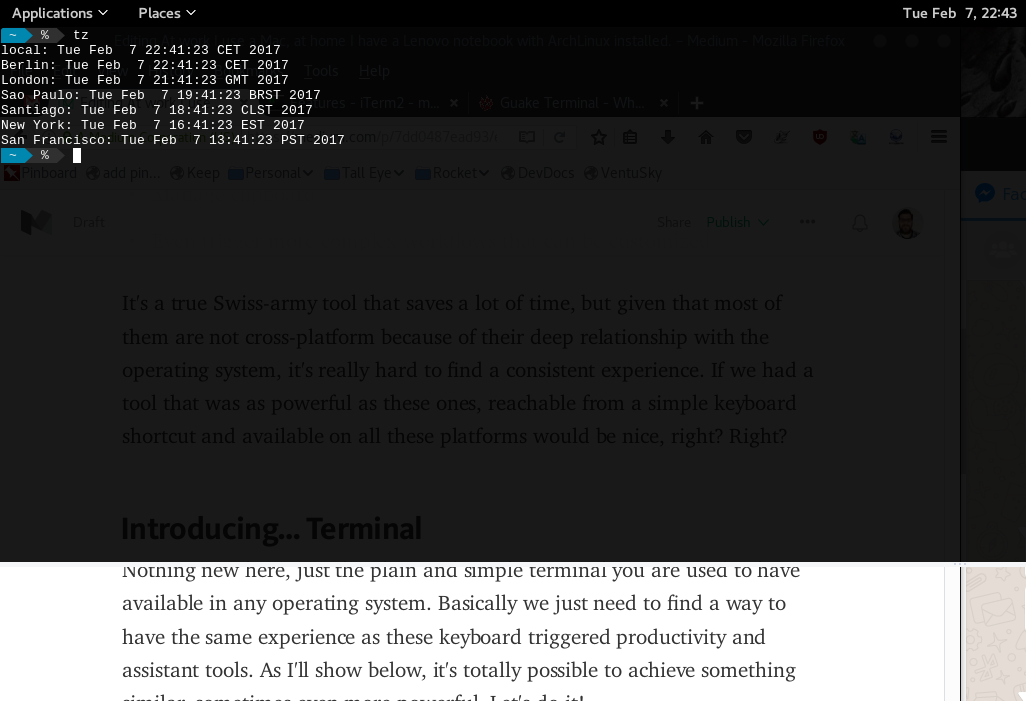 Cross platform productivity with Terminal - By