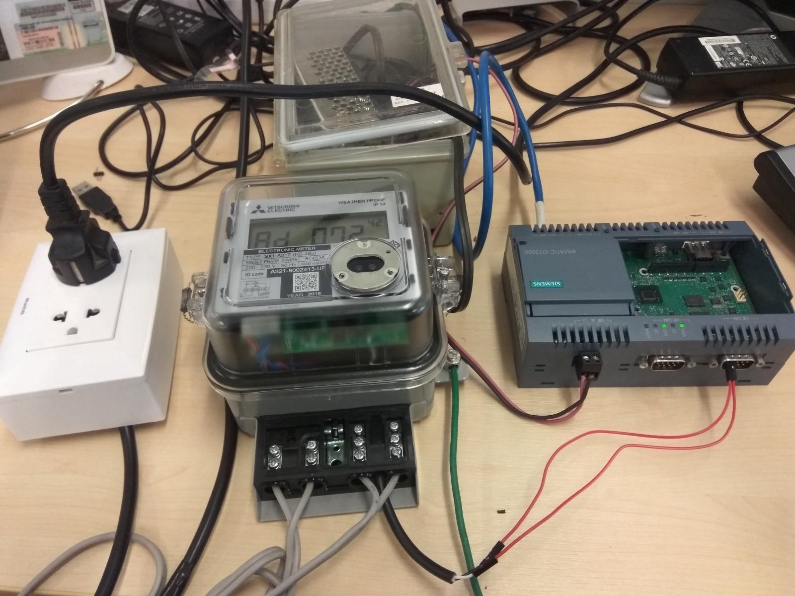 Connecting Modbus RTU Smart Energy Meter and Siemens Simatic IoT2040