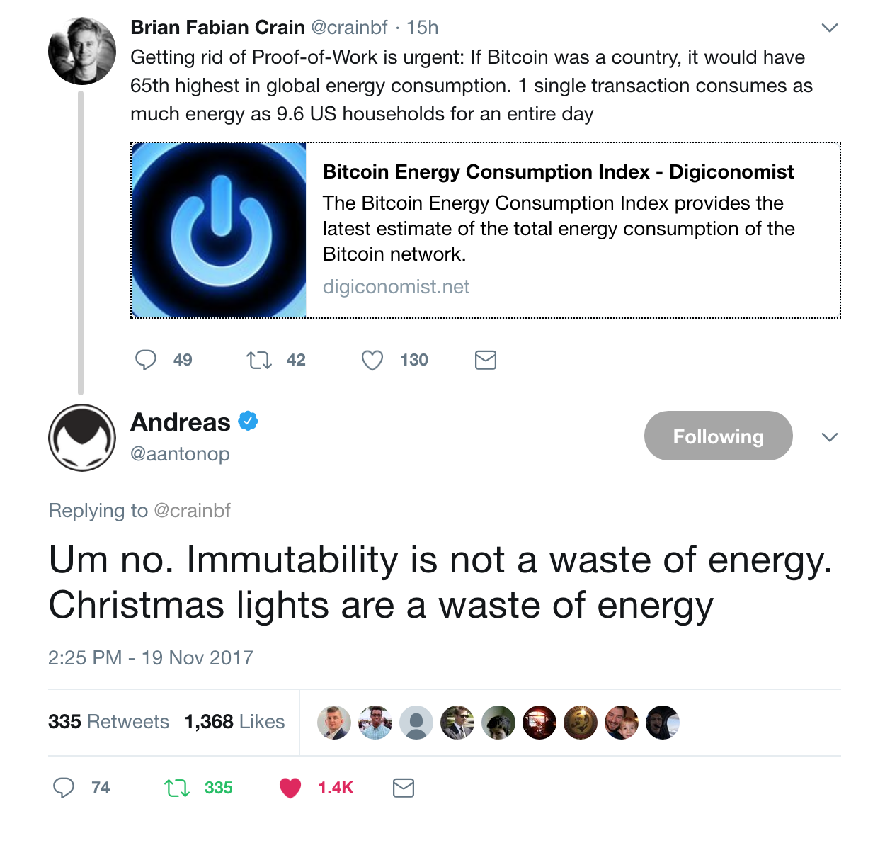 The Bitcoin vs Visa Electricity Consumption Fallacy - By