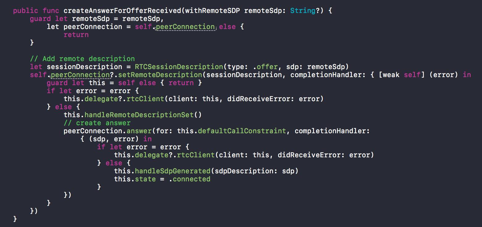 SwiftyWebRTC — RTCClient using WebRTC - By