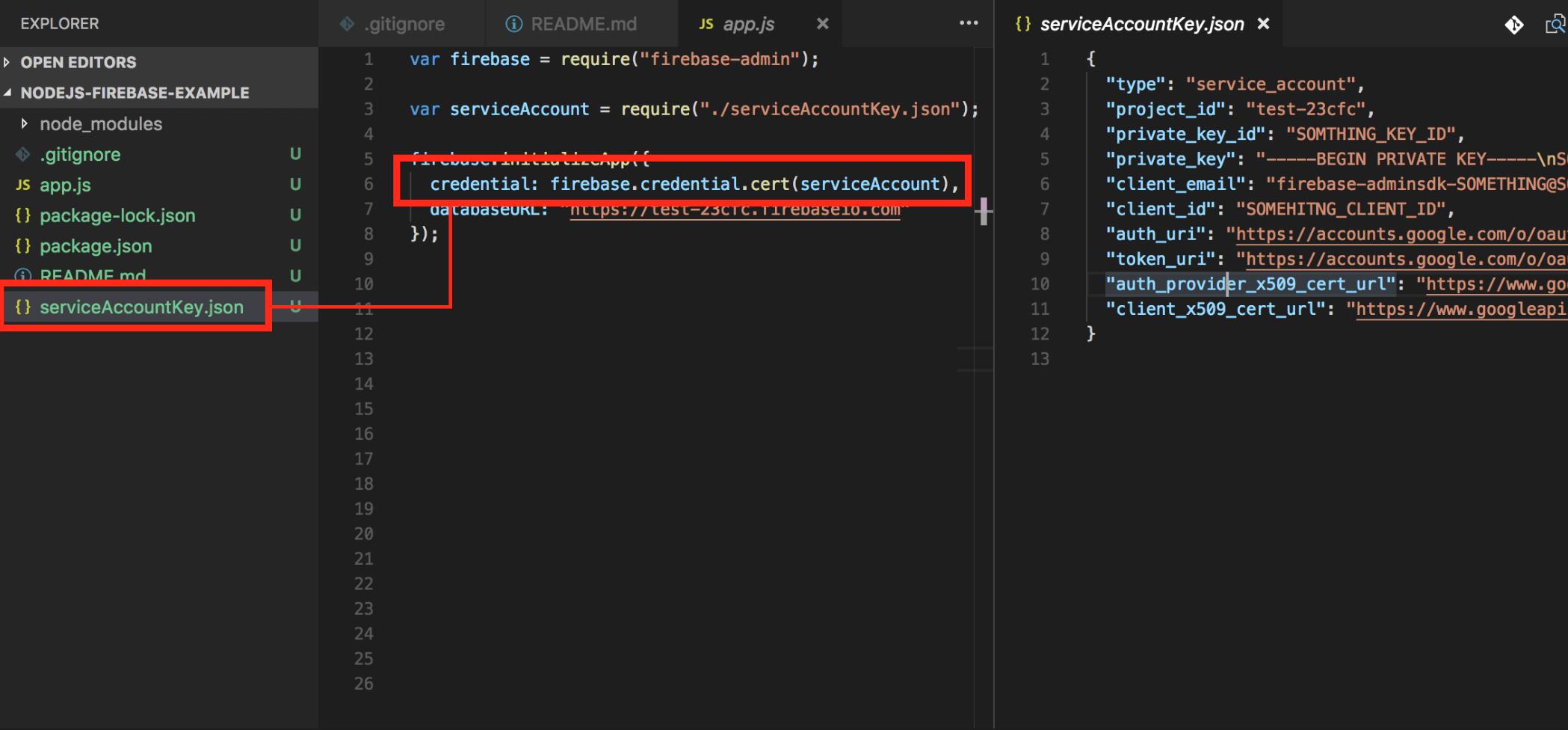 Nodejs] Setup Firebase in 4 step - By