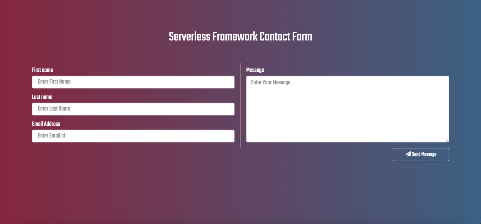 Building Serverless Contact Form For Static Websites - By
