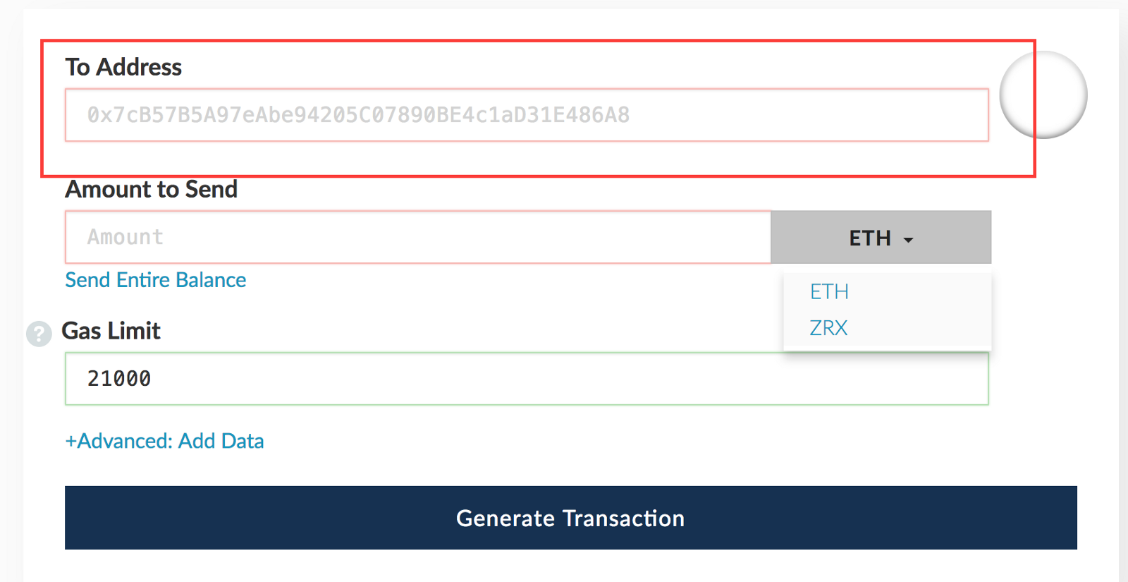 Transferring ERC20 tokens to Cryptocurrency Exchange - By