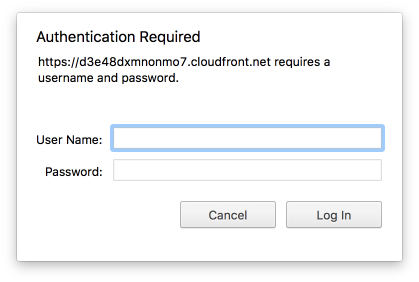 Serverless: password protecting a static website in an AWS