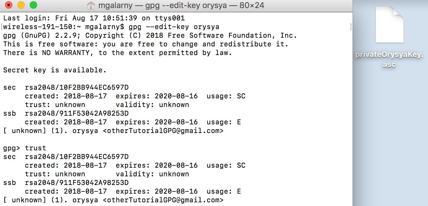 Public-key (asymmetric) Cryptography using GPG - By