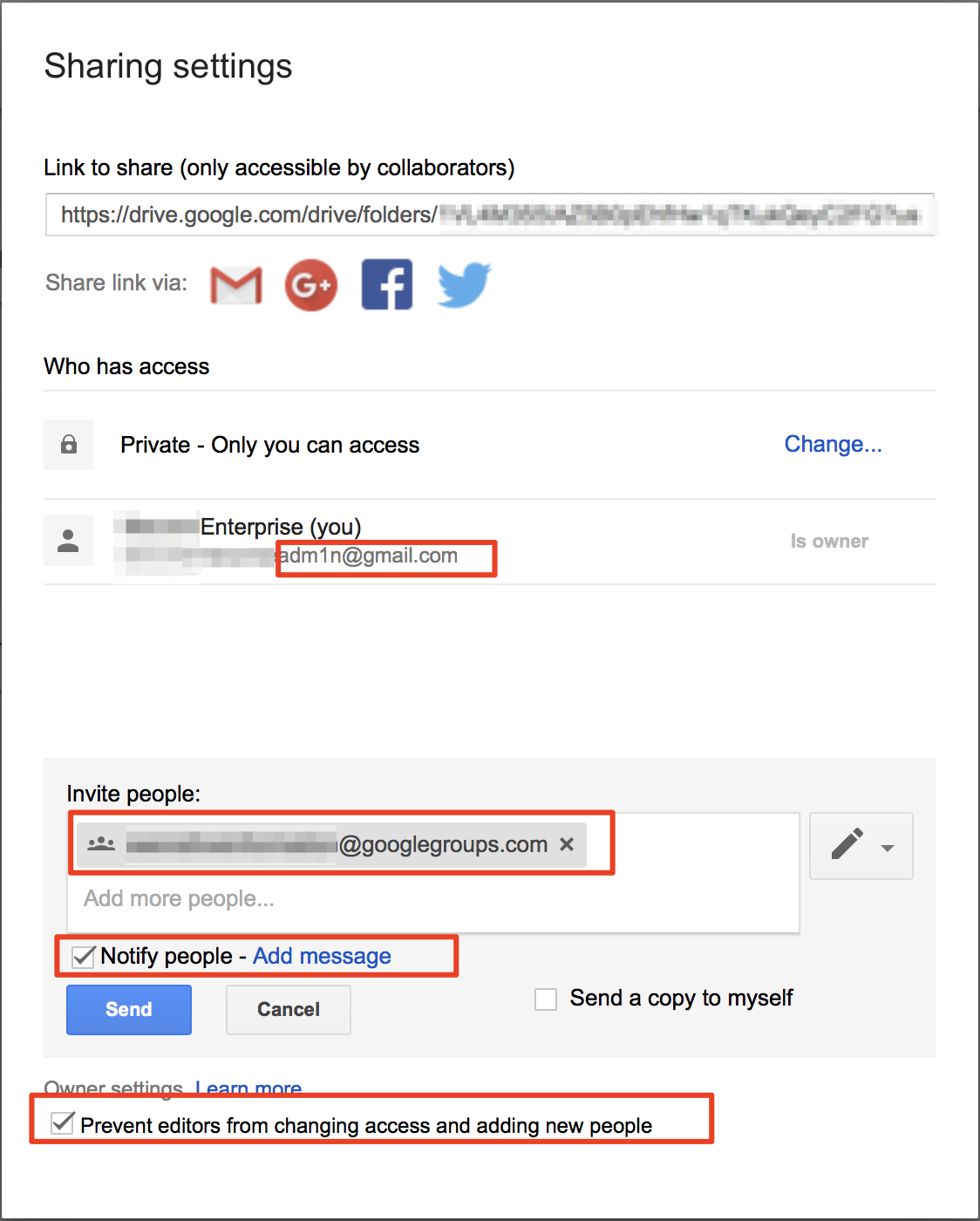 How to Securely Configure Google Drive to Share with a