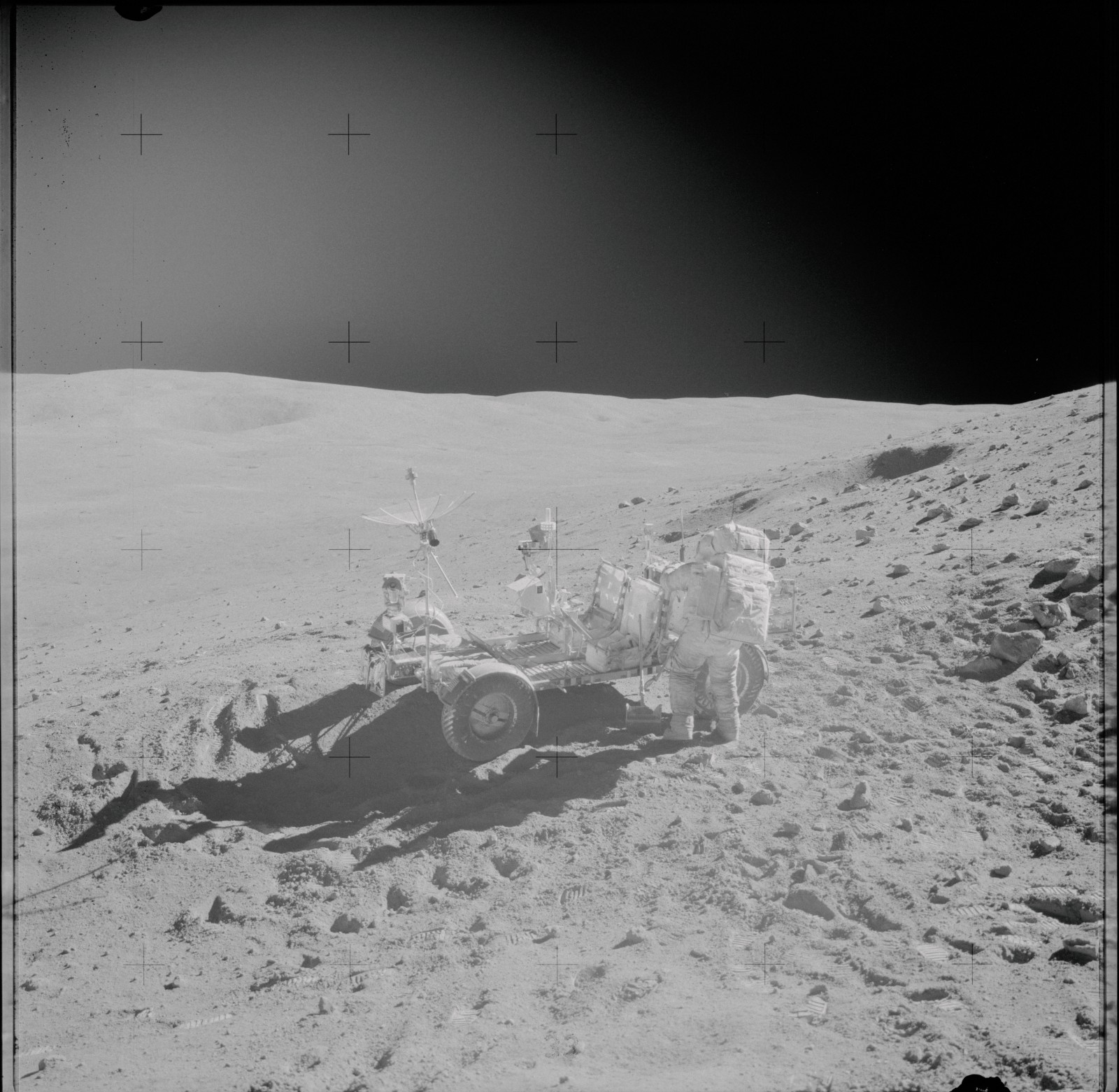 I looked through all 14,227 photos from the Apollo Missions  Here's