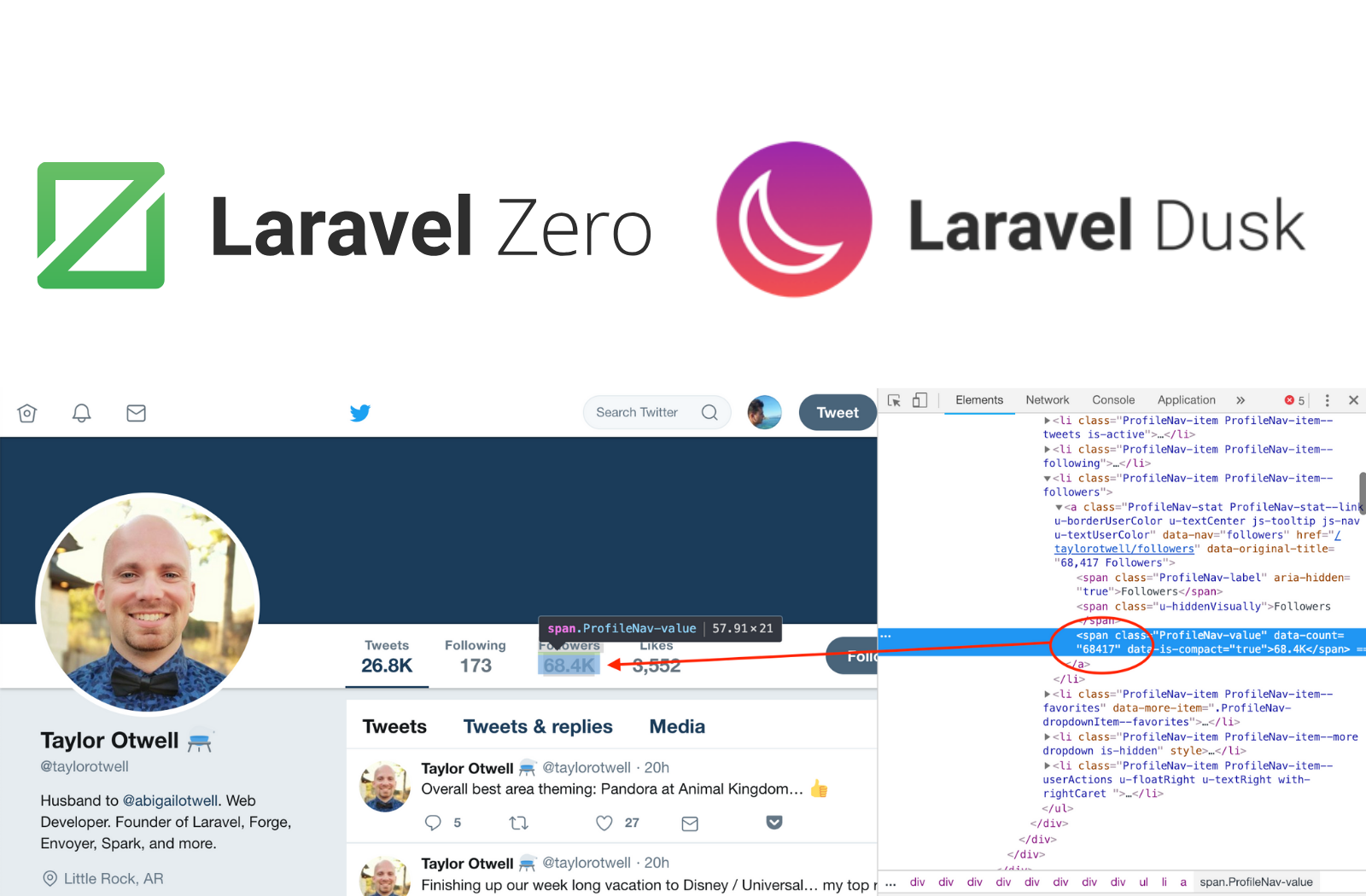 Laravel Zero/Dusk- Tracking twitter accounts - By Martin Riedweg