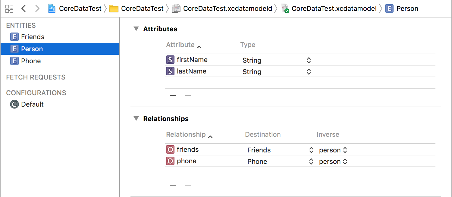 Core Data Relationships - By