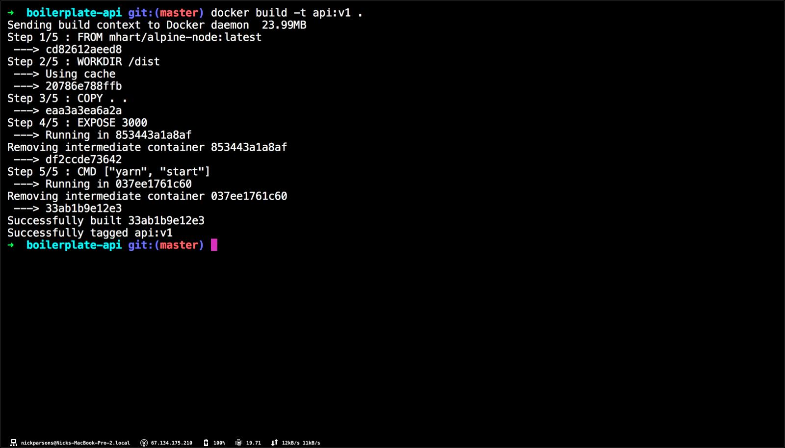 Containerizing a Node js API & Using Docker with Kubernetes