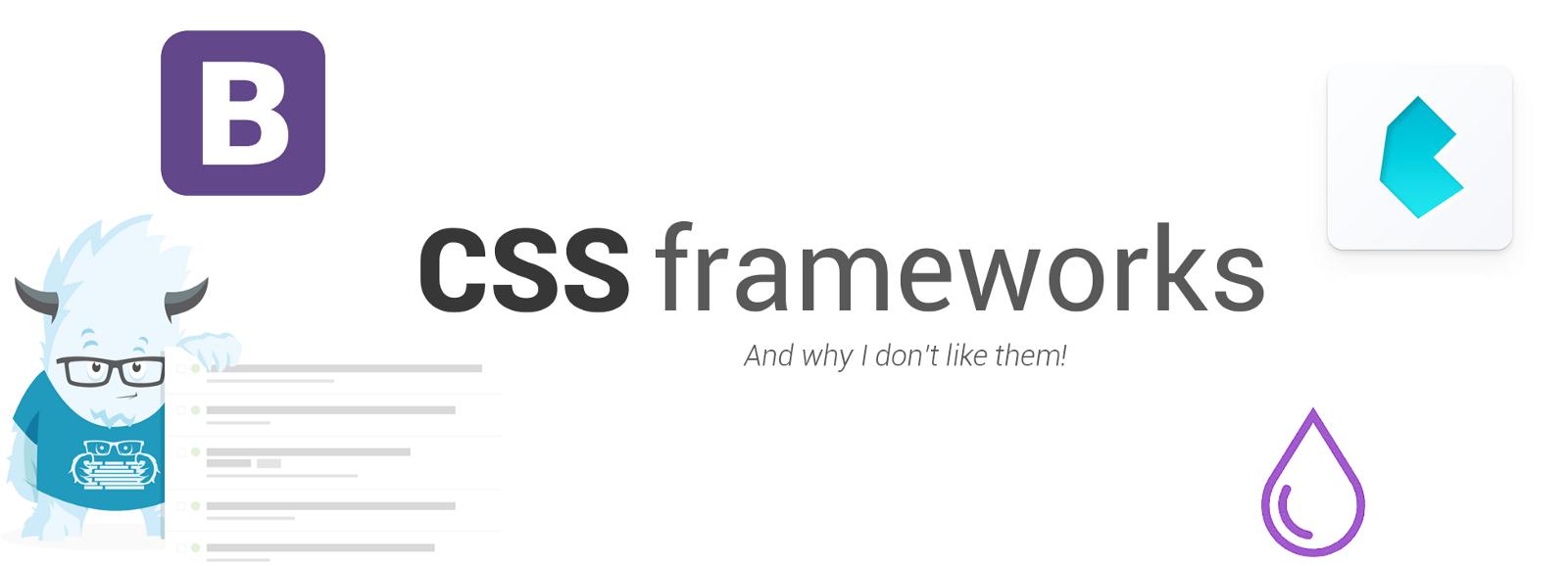 /a-case-against-css-frameworks-bea9a6997f8e feature image