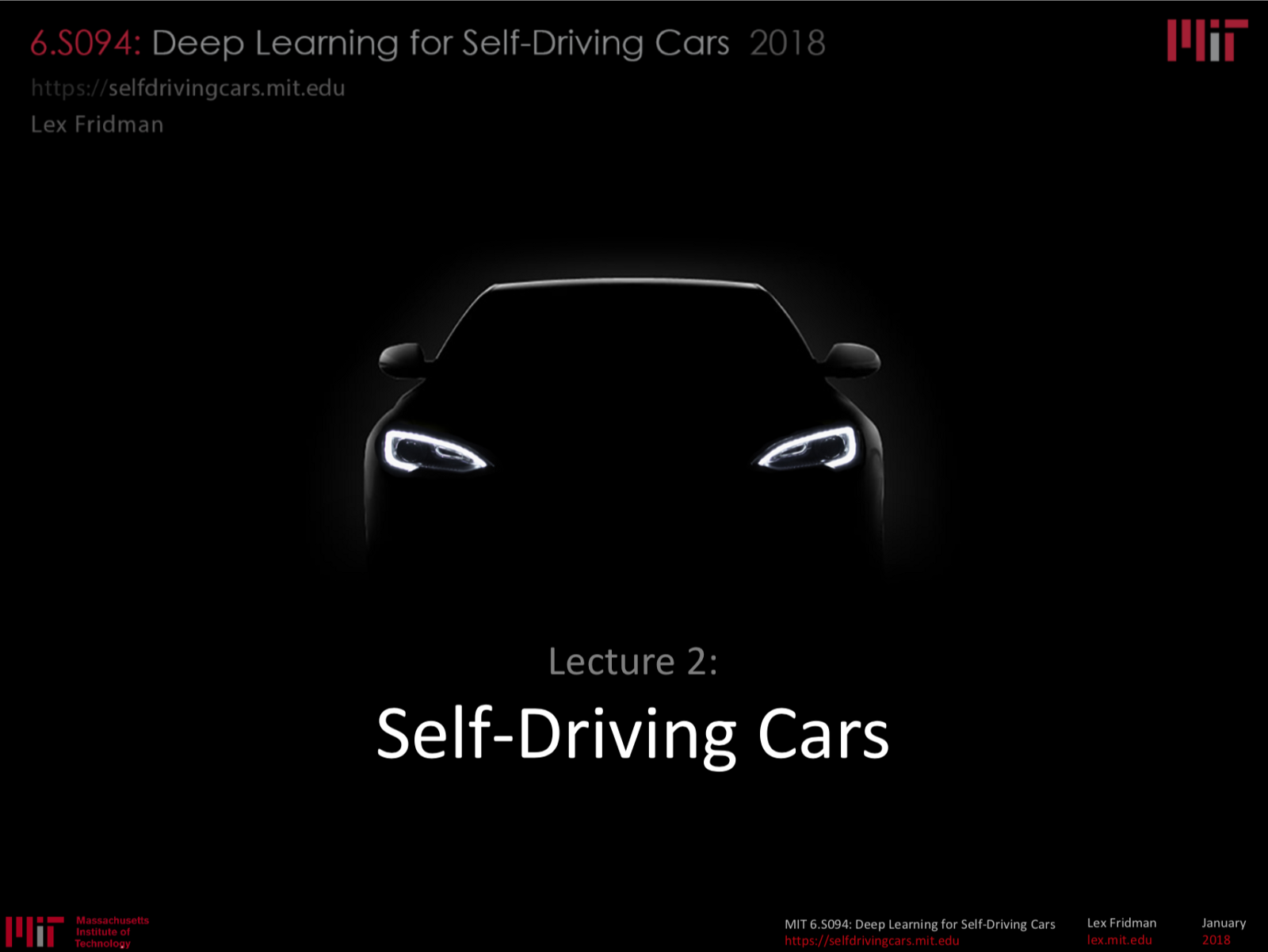 MIT 6 S094: Deep Learning for Self-Driving Cars 2018 Lecture