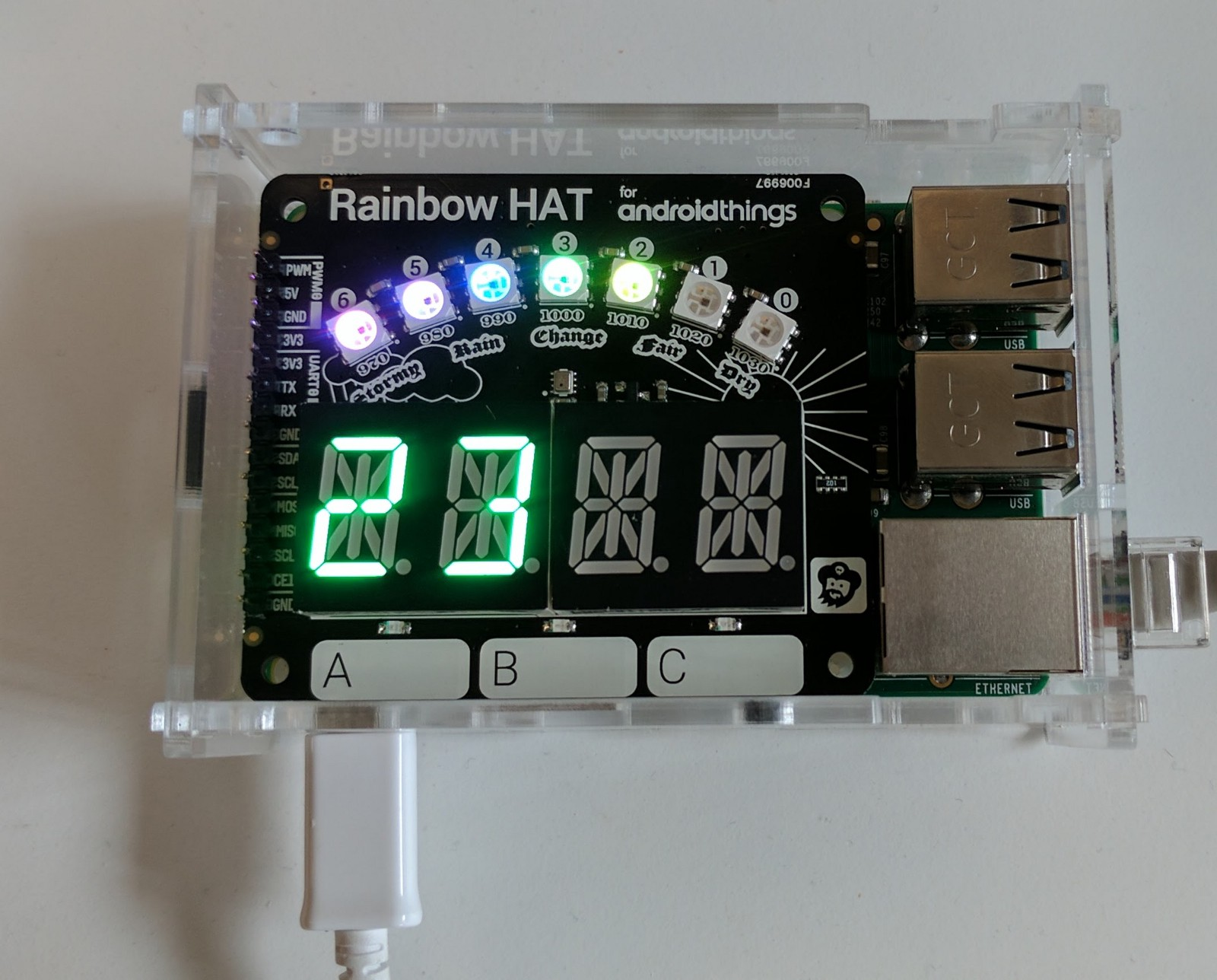 Trying out the Android Things Weatherstation Codelab - By