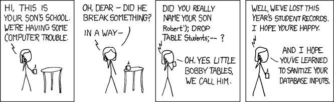 "XKCD ""Exploits of a Mom"""