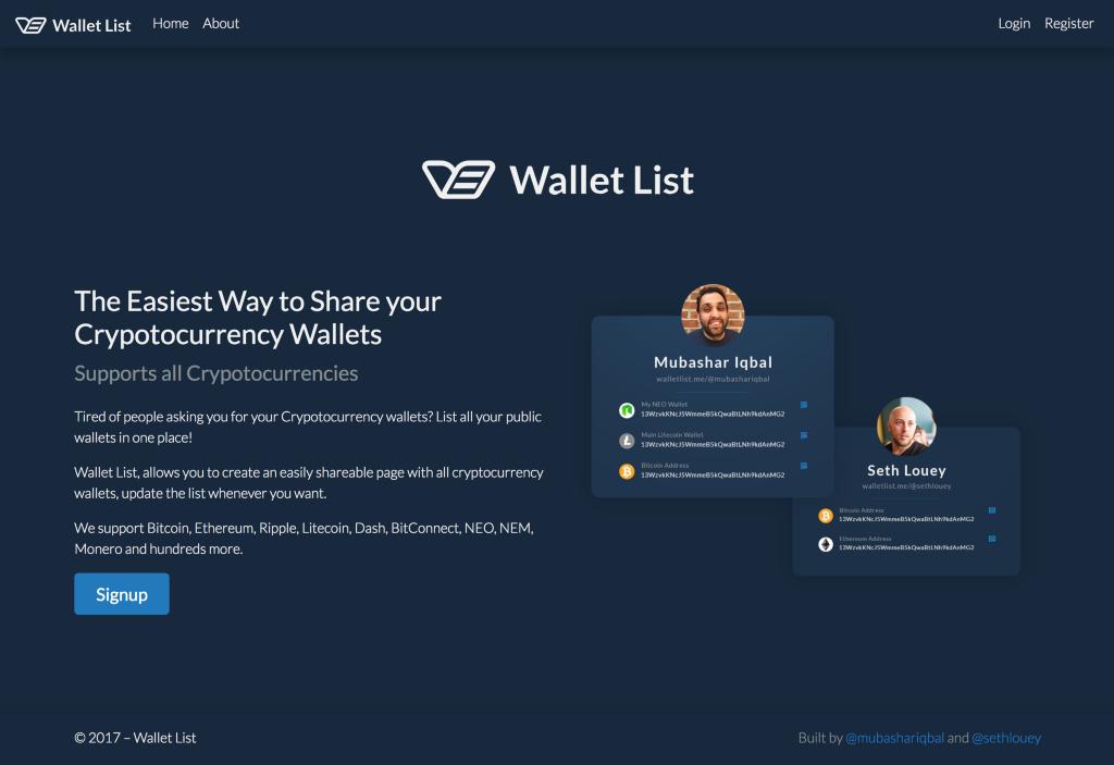 Wallet List - By