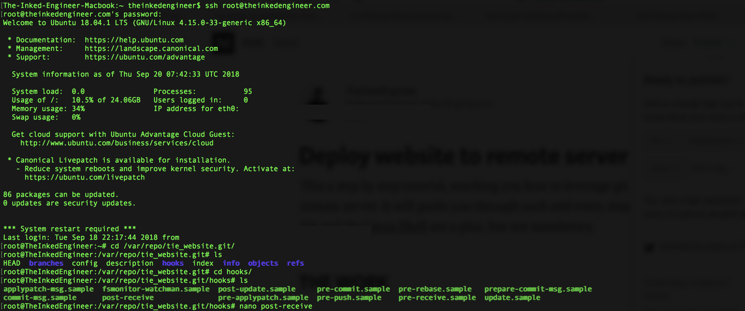 How to Deploy a Website to a Remote Server Using GIT - By